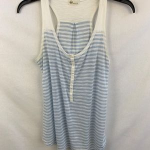 AG Blue and White Tank Top - M